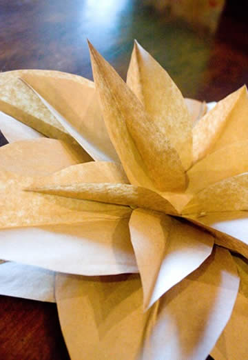 Flores de papel passo a passo