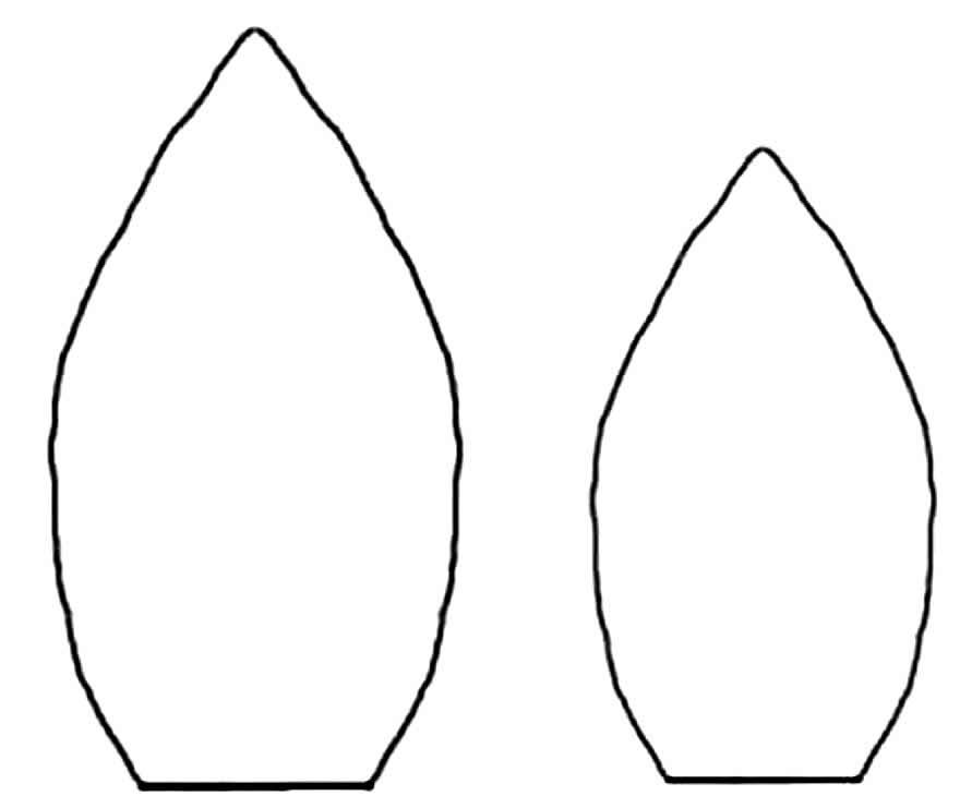 Moldes de pétalas