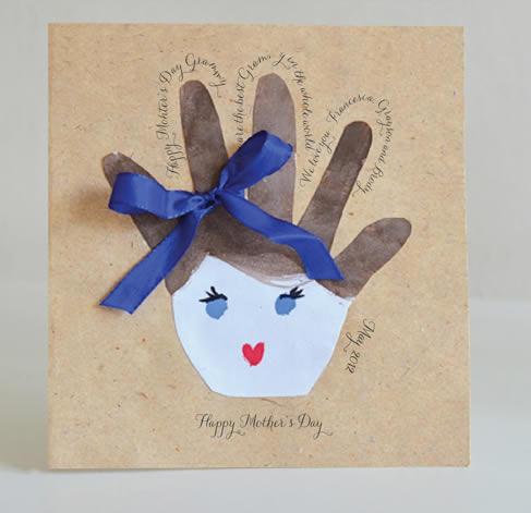Cartão criativo para o Dia das Mães