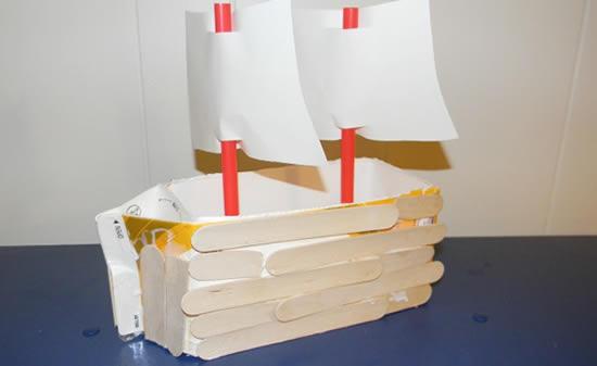 Como fazer barquinho com caixa de leite
