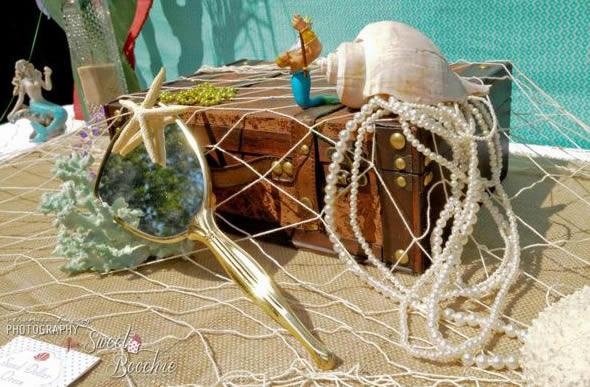 Decorações e ideias para festa de pequena sereia