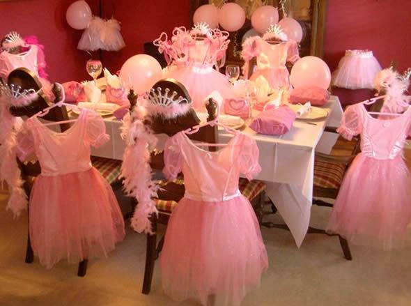 Decoração para festa de princesas