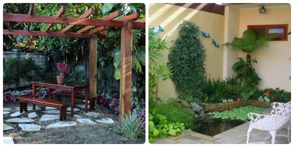 decorar o jardim de forma barata com criatividade  Como fazer em casa
