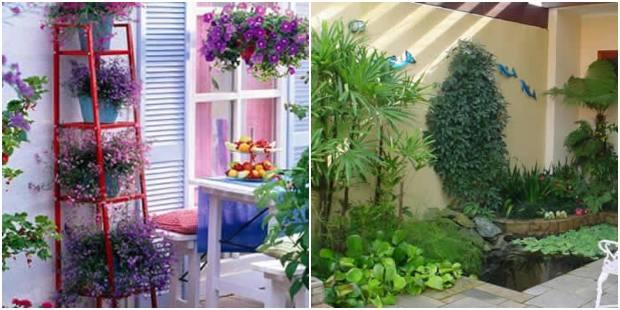 10 ideias para decorar o jardim de forma barata