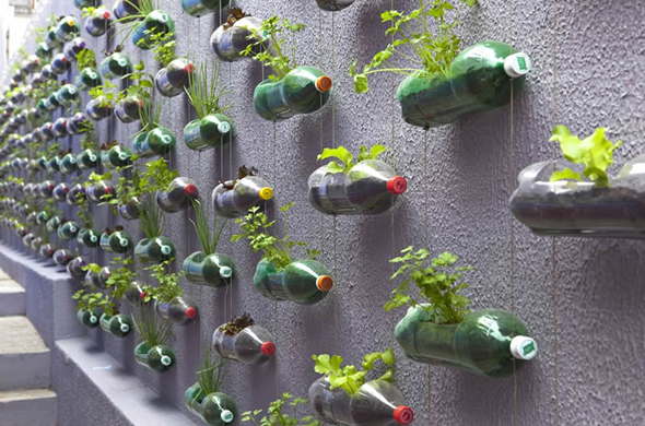 Ideia de vaso reciclado