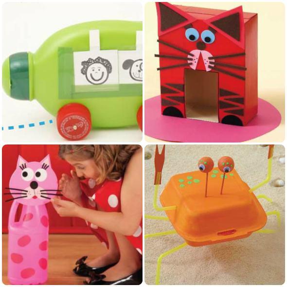 Muito 23 formas para fazer brinquedos reciclados para crianças AK44