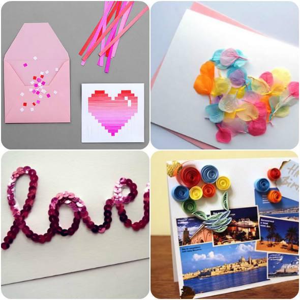 Cartões artesanais para o Dia dos Namorados