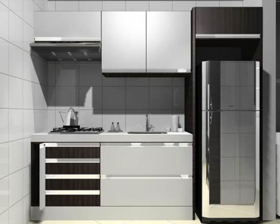 Como decorar uma cozinha pequena for Modelos de mini apartamentos