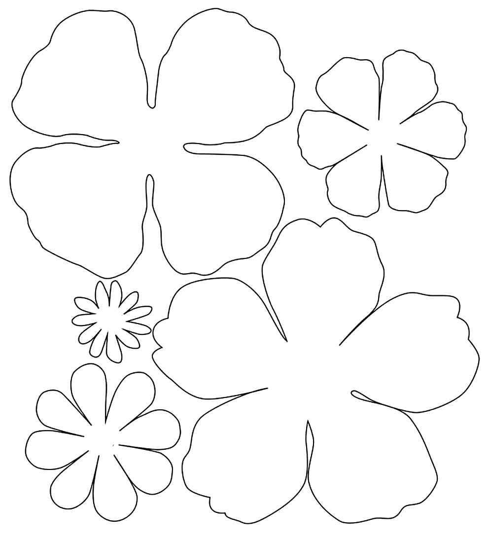 Moldes para fazer flores