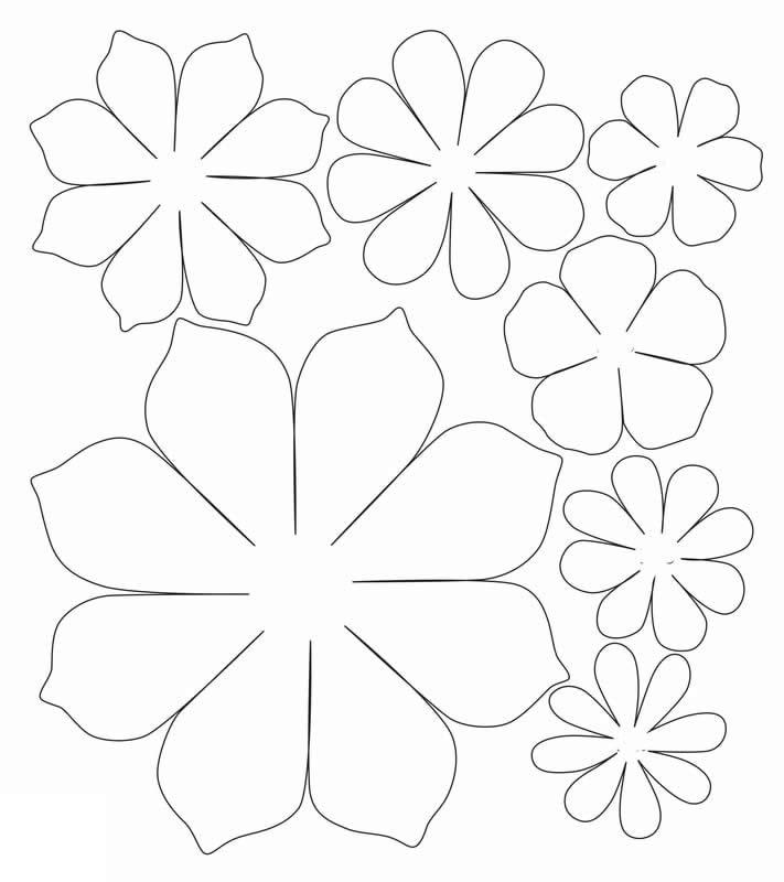 Moldes para fazer flor