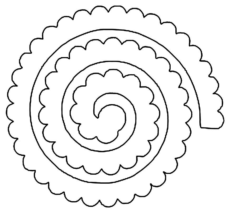 Molde de flor de feltro