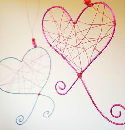 Enfeite de coração para o Dia dos Namoraods