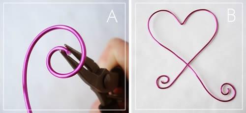 Enfeite de coração para o Dia dos Namorados