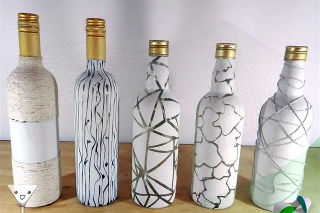Artesanato Madeira De Demolição Passo A Passo ~ Como reciclar garrafas de vidro 10 artesanatos passo a passo