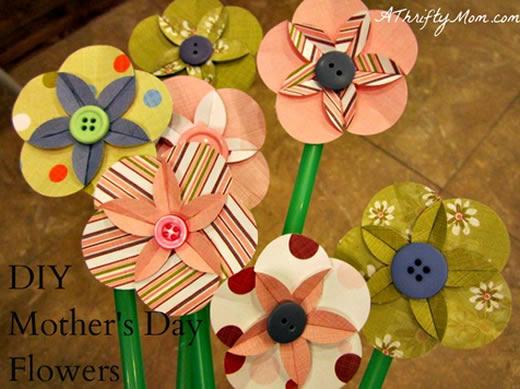 Flores de papel para o Dia das Crianças