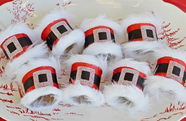 Porta-guardanapo de Natal passo a passo