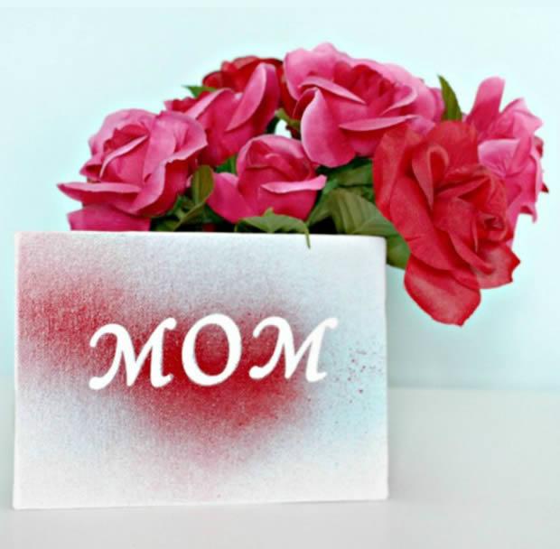 Cartão para o Dia das Mães passo a passo