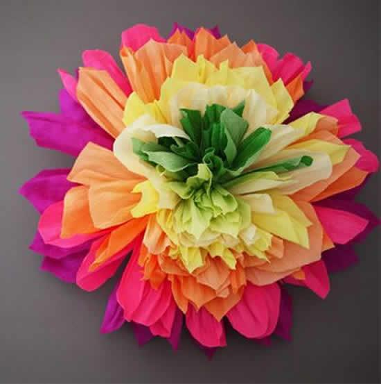Flor de papel seda