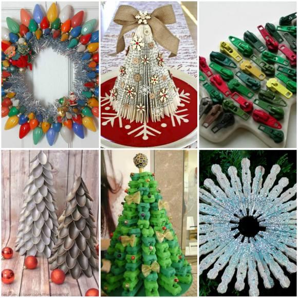 decoração natalina reciclada