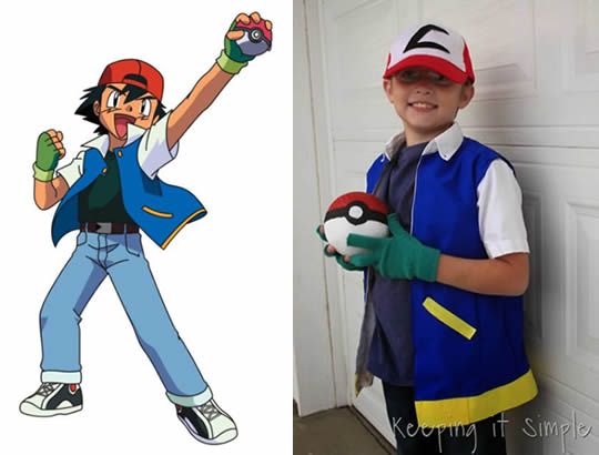 Fantasia de Ash do Pokemon