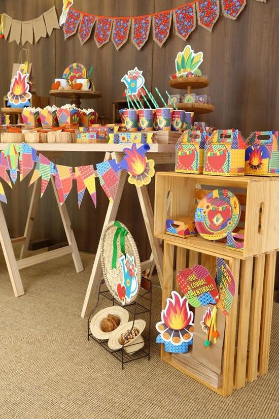 Decoração barata para Festa Junina com paletes