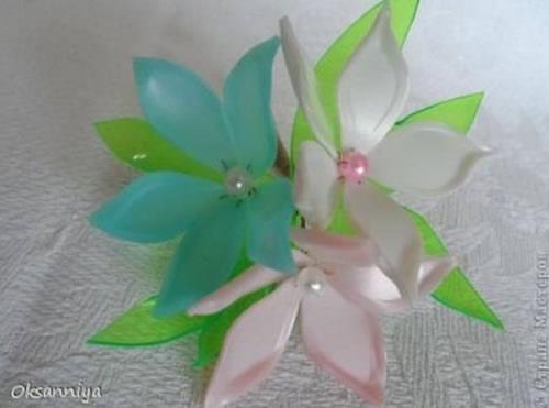 Como Fazer Flores com Embalagem de Shampoo