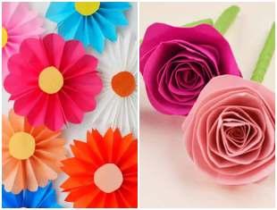 Flores de papel lindas
