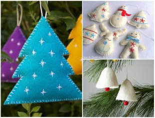 30 formas de fazer enfeites com feltro para o Natal