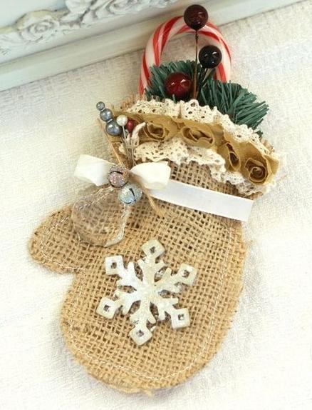Molde para fazer um Enfeite de Natal com Juta