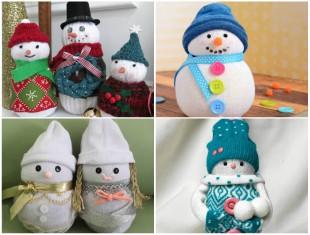 10 formas para fazer Bonecos de Neve com Meias para o Natal