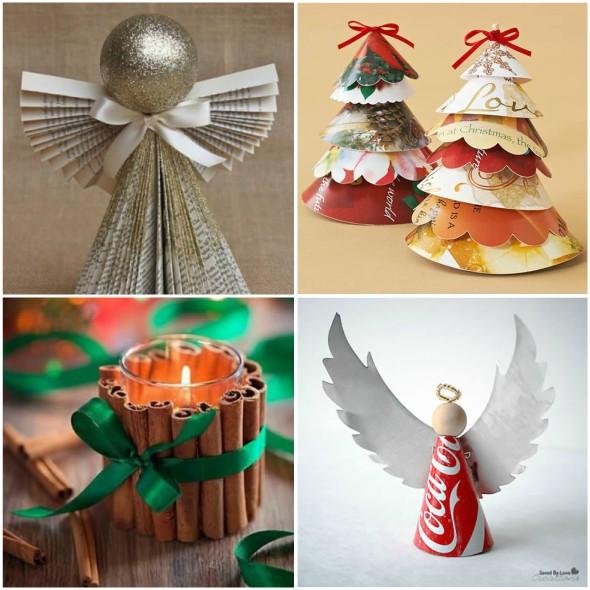 Enfeites de Natal fáceis de fazer com reciclagem