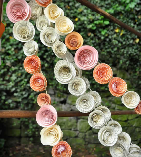Inspirações para flores de papel