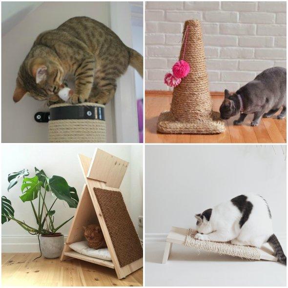 como fazer arranhadores para gatos