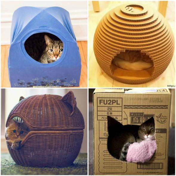 como fazer casinhas e abrigos para gatos