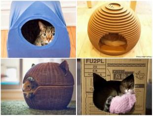 Como Fazer Casinha para Gatos passo a passo - 10 Ideias Lindas