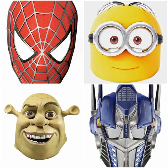 máscaras coloridas para carnaval