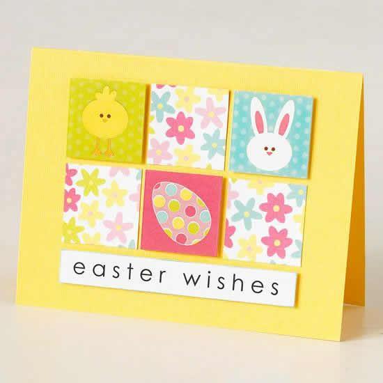 Cartão de papel para Páscoa