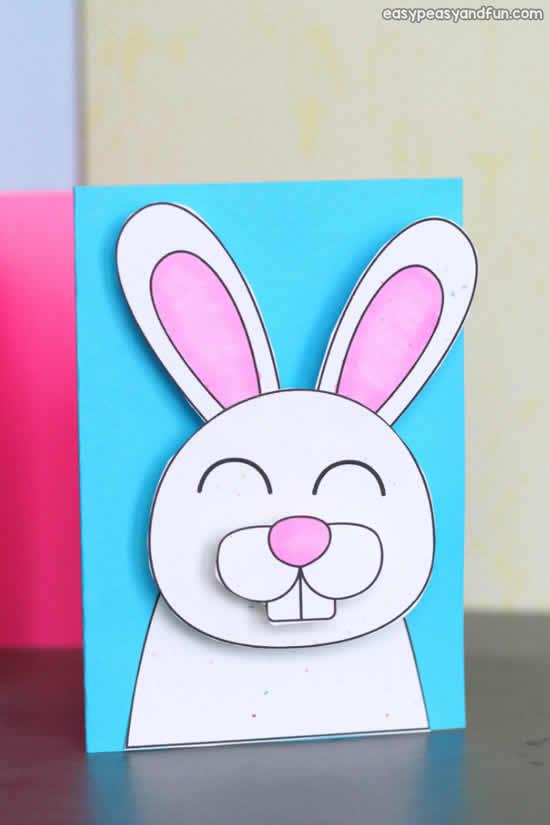 Cartão de Páscoa com coelhinho