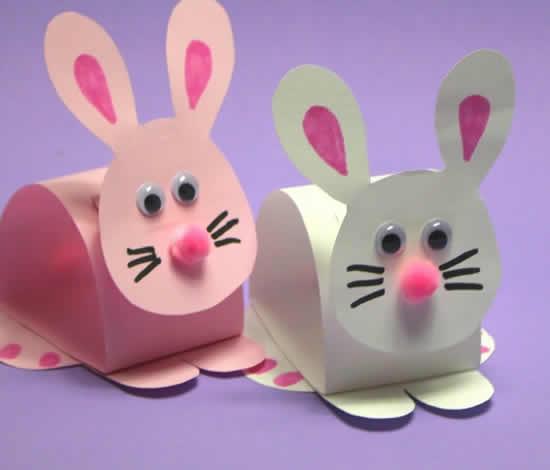 Lindos coelhinhos de papel