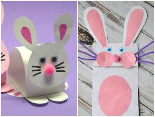 Coelhinhos de papel para decoração de Páscoa