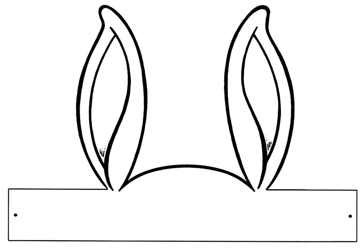 Moldes de orelhas de coelho