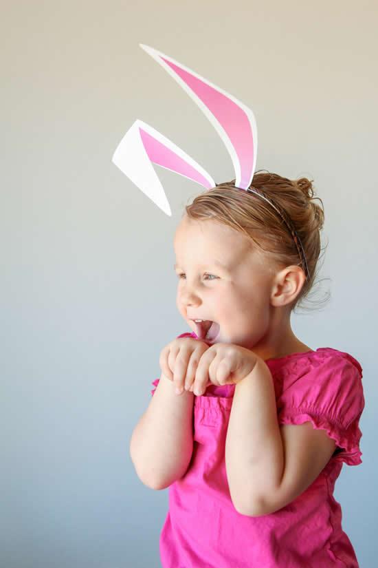 Como fazer orelhas de coelho de papel