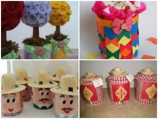 Latas Decoradas para Festa Junina: 10 exemplos