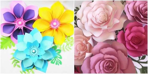 Flores de papel para o Dia das Mães