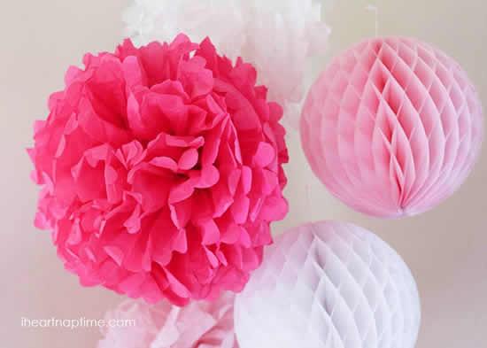 Flores de papel seda grandes
