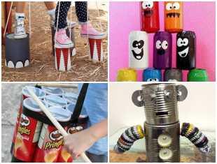Brinquedos Reciclados com Latas