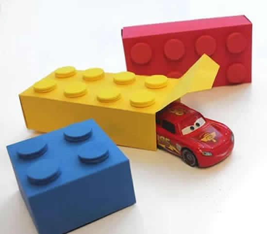 Caixinhas Lego de papel