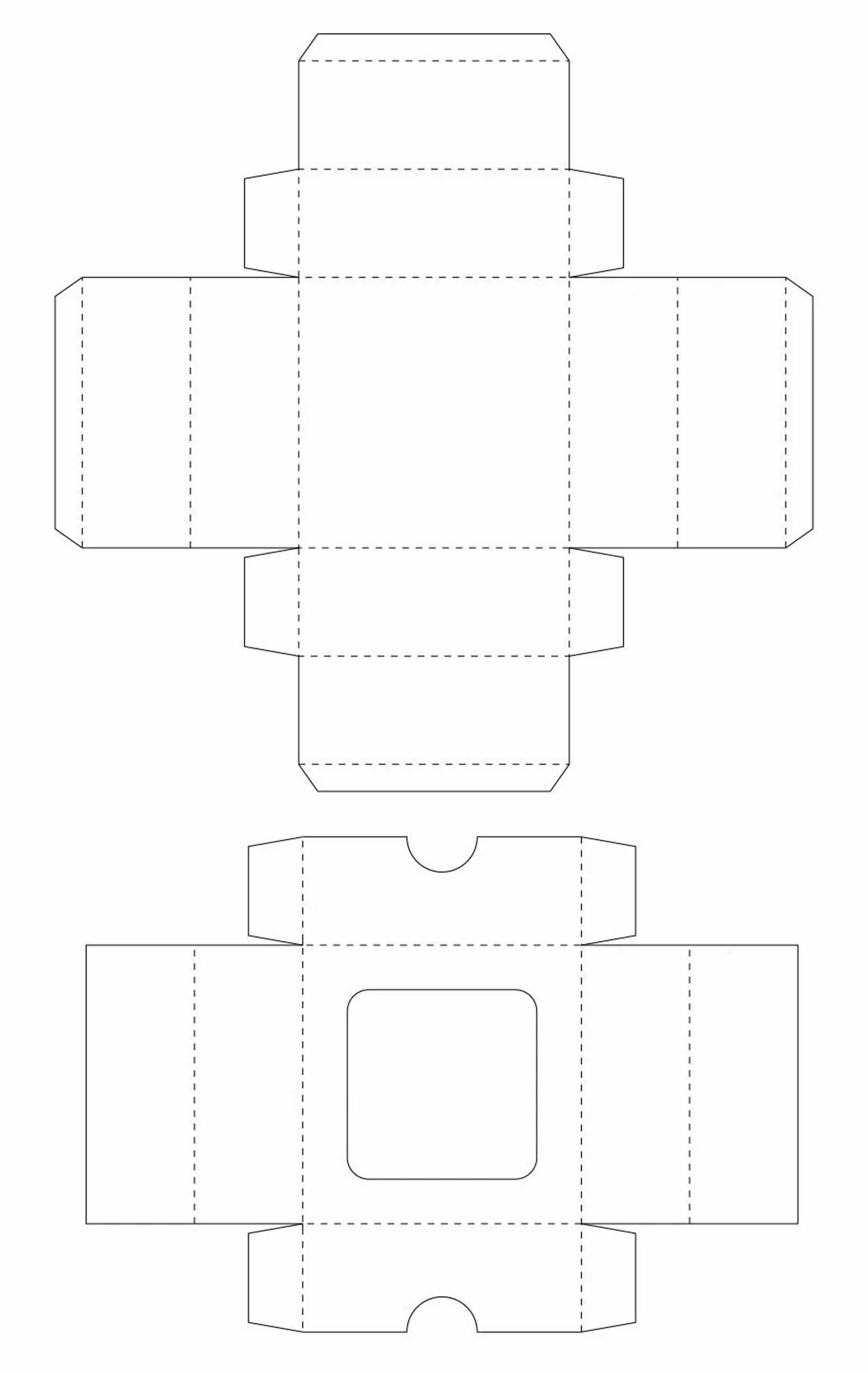 Molde de caixinha de papel para Dia dos Pais