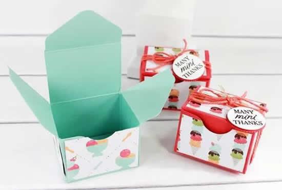 Caixa de papel para embrulhos e embalagens