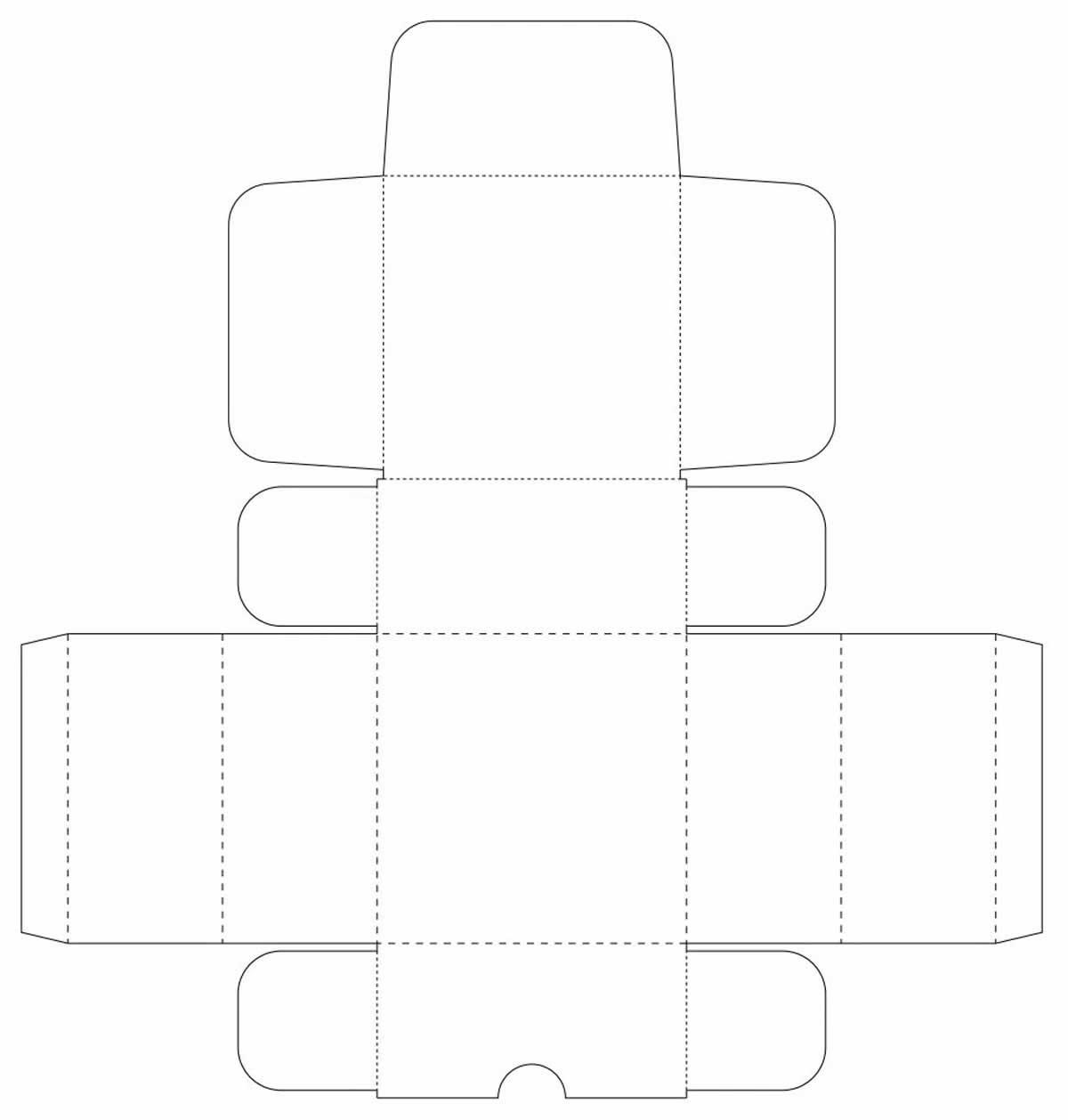 Molde de caixa de papel